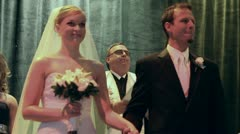 Bride and Groom Announced at Wedding - stock footage
