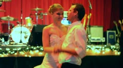 Bride and Groom Dancing at Wedding 3 Stock Footage