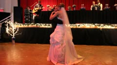 Bride and Groom During First Dance Stock Footage