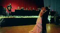 Bride and Groom First Dance at Wedding Stock Footage