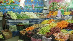 Plentiful fruit market (HD) c Stock Footage