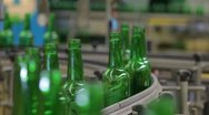 Glass Bottles Stock Footage