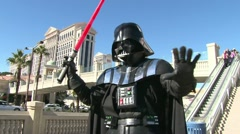 Fighting with Darth Vader Stock Footage