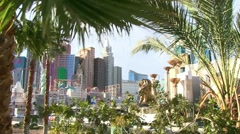 MGM Grand and NYNY Resorts Stock Footage