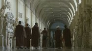 Several young Monks at the Vatican Stock Footage