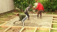 Pouring Fresh Concrete Time Lapse Stock Footage