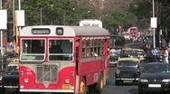 Stock Video Footage of Traffic in Mumbai, including a double decker bus
