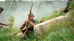 Rifle shooting Stock Footage