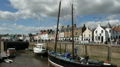 Anstruther waterfront Fife Scotland Stock Footage