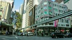 Australia - Sydney monorail - stock footage