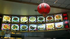 Picture Menu at Chinese Take Out Restaurant Stock Video Stock Footage