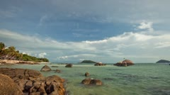 Time goes fast where you are on holiday on a tropical island in Thailand Stock Footage