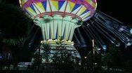 Swing ride at amusement park in Kurdistan closeup (HD) c Stock Footage