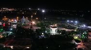 Aerial view of amusement park in kurdistan (HD) c Stock Footage