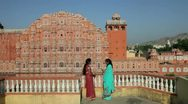Palace of the Winds, Jaipur, India Stock Footage