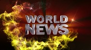 WORLD NEWS Text in Particle (Double Version) - HD1080 Stock Footage
