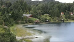 Nahuel Huapi Lake in San Carlos de Bariloche in Patagonia Stock Footage