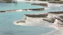 Pamukkale terraces Stock Footage