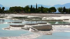 Stock Video Footage of Pamukkale terraces