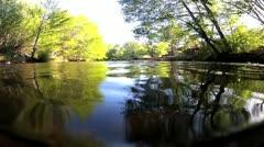 Oak Creek Sedona water level Stock Footage
