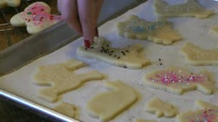 Yummy sugar cookies! Stock Footage
