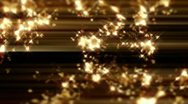 Stock Video Footage of GOLD CRYSTAL LOOP - HD 1080 P