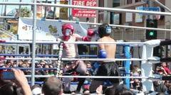 Muay Thai Match Medium Elbows Stock Footage