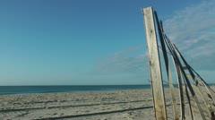 Carolina dune fence Stock Footage