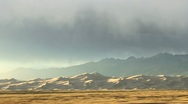 Rainstorm over the Great Sand Dunes Stock Footage