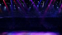 concert purple spotlight - stock footage