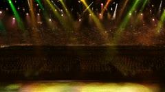 Concert yellow spotlight Stock Footage