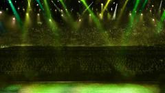 Concert spotlight color change Stock Footage