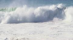 Large Wave Crashing Stock Footage