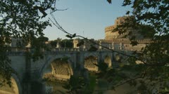 Castel Sant'Angelo in Rome (slow motion 1) Stock Footage