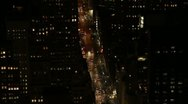 Stock Video Footage of Overhead shot of the traffic on the streets of New York City HD707