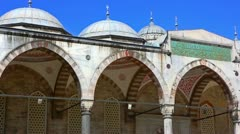 Blue mosque Istanbul Stock Footage