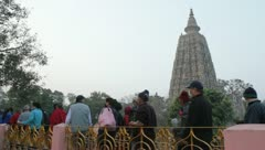 Bodhgaya Circumambulation 02 Stock Footage