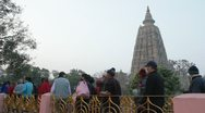 Stock Video Footage of Bodhgaya Circumambulation 02