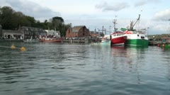 Boats in Padstow Harbour, Cornwall, England Stock Footage