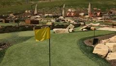 Mini golf coarse 3 Stock Footage