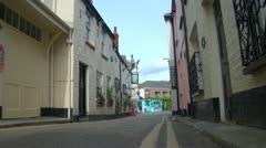 Quaint Old Street in Padstow, Cornwall,England Stock Footage