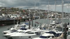 Boats in Falmouth, Cornwall, England Stock Footage