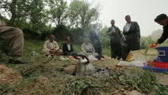 Campfire in Kurdistan (HD) c Stock Footage