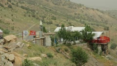 Mountainside settlement in middle east (HD) c Stock Footage