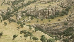 Aerial view of mountains in Kurdistan (HD) c Stock Footage