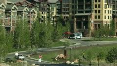 Hotel Park City Utah Apartment Buildings 8 Stock Footage