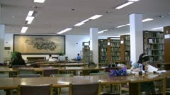 Library in Chinese university Stock Footage