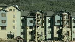 Hotel Park City Utah Apartment Buildings 5 Stock Footage