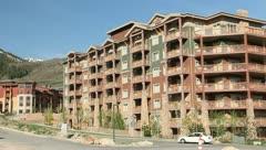 Hotel Park City Utah Apartment Buildings 4 Stock Footage