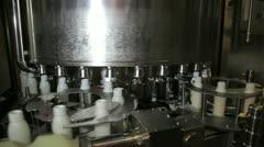 Milk bottling machine Stock Footage